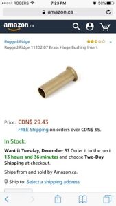 Rugged Ridge 99-06 JEEPwrangler Brass Hinge Bushing Insrt