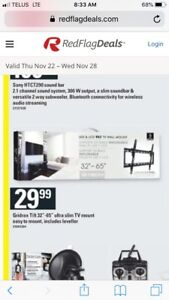 """Slim tv wall mount 32"""" to 65"""" with tilt"""