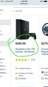 """PS4 pro 4k  also have a 4k 55"""" tv for 950 firm"""