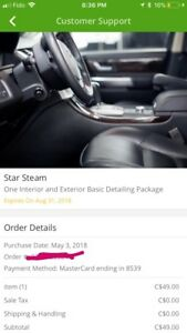 Groupon for auto detailing never been used