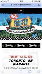 Warped tour tickets