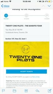 TWENTY ONE PILOTS TICKET