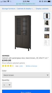 **Brand new *** ikea brown black cabinet pantry