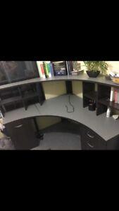 Corner desk and hurch