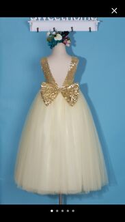 Flower girl dress and wedding gown