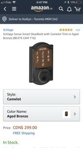 Schlage sense smart deadbolt door lock