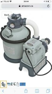 "Used Intex 10"" Pool Sand Filter for 8' to 18' pools"