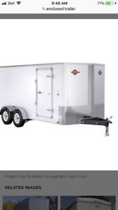 7 x 14' enclosed trailer wanted.