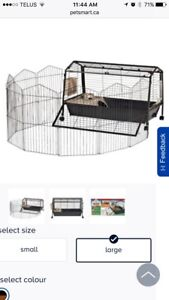 Sold pounds. Rabbit Cage and Play Pen $130 OBO