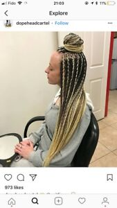 Braids , twists , crochet, Cornrows and sew-ins at cheap prices