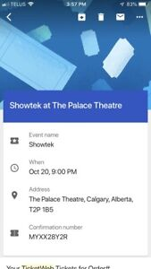 2 showteck tickets