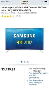 """Samsung 65""""curved UHD HDR New"""