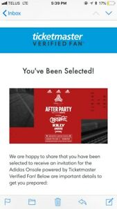 Selling two tickets adidas tango after party
