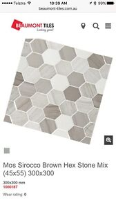 High-end hexagonal stone tiles Lane Cove North Lane Cove Area Preview