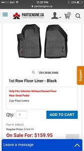 Fitted weather tech mats jeep Cherokee 2015