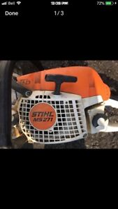 Stihl MS271 - chain saw - new extra chains