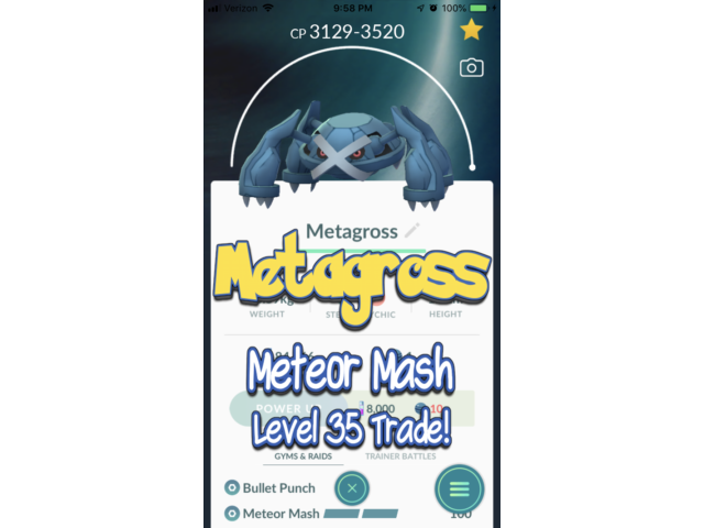 Pokemon - Meteor Mash (Legacy) Metagross Level 35! Go!