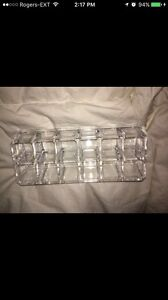 Clear acrylic lipstick and makeup holder