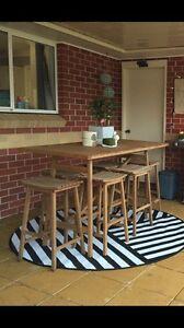 Timber Outdoor Bar Table 6 seater! Singleton Singleton Area Preview