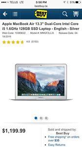 Hardly used  apple MacBook Air