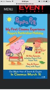 3 tickets to Peppa's Australian Holiday 10am tomorrow Banjup Cockburn Area Preview
