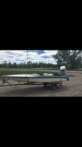J Craft Ski Boat and 1991 200 Johnson