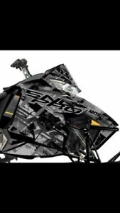 SLED WRAP 2012-2015 arctic cat black scarred