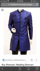 Indian pakistani Mens occasion designer wear kurta salwar koti