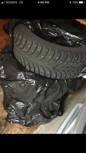 Two sets of 205/55 R16 tires