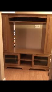 Tv stand with side storage