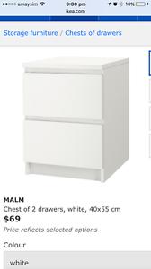 2x IKEA MALM DRAWERS Kogarah Rockdale Area Preview