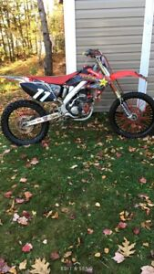 Honda crf250r with duals