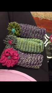 Knitted baby - adult hats and headbands