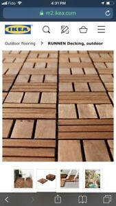 Outdoor floor decking