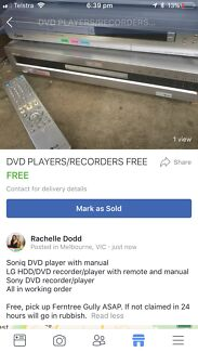 DVD PLAYERS/RECORDERS FREE