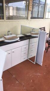 Bathroom Vanity and Mirror x2 Hamlyn Terrace Wyong Area Preview