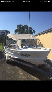 Quintrex Fishabout Tinnie Tinny with 2008 Mercury.....