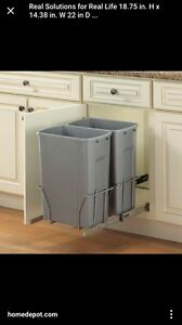 Under the cupboard pull out garbage system