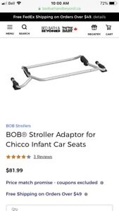 BOB stroller adapter for Chicco infant car seats.