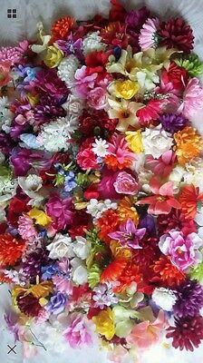 25 X Artificial Flower Heads Fake Silk Joblot Craft Wedding Florist Decor Roses