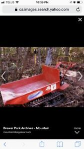 Gas powered tracked cart