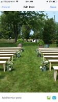 20 Benches for Rent for Wedding and Events