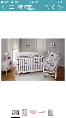 Girls Nursery Crib Set Bedding