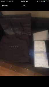 Gucci bag and receipt