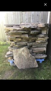 "Granite Stones. 1 Skid Left. 3' Tall x 3'3"" Square Great Deal"