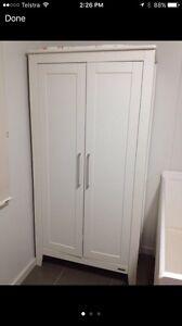 White Nursery Furniture Wardrobe Cupboard Leanyer Darwin City Preview