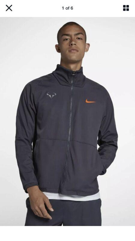 Nike Court Rafa Nadal Premier Tennis Jacket Gridiron  (933988-009) sz Large NWT