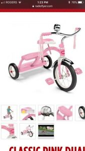 CLASSIC PINK DUAL DECK TRICYCLE -LIKE NEW