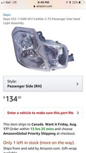 Cadillac CTS front right headlight