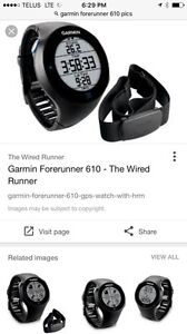 Garmin Forerunner 610 with heart rate monitor and door pod